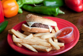 Cheese burger-El Jefe Restaurant & Mexican Grill, Newark, Delaware