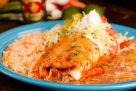 Shrimp Chimichanga -El Jefe Restaurant & Mexican Grill, Newark, Delaware