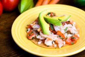 Shrimp Tostada -El Jefe Restaurant & Mexican Grill, Newark, Delaware