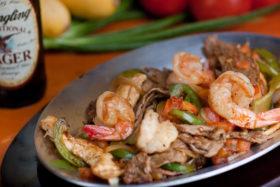 Chicken, Steak & Shrimp Fajitas -El Jefe Restaurant & Mexican Grill, Newark, Delaware