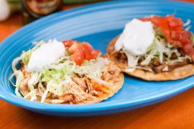 Meat Tostadas -El Jefe Restaurant & Mexican Grill,Newark, Delaware